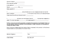 Cashier Check Template – Fill Online, Printable, Fillable with regard to Cashiers Check Template