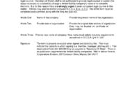 Cd 110 Articles Of Amendment To Articles Of Organization throughout Articles Of Organization Template