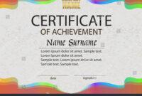 Certificate Achievement Reward Winning Competition Award throughout Certificate Of Attainment Template