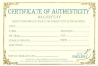 Certificate Authenticity Template Of Photographer Templates with regard to Certificate Of Authenticity Photography Template