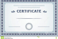 Certificate Border And Template Design Stock Vector pertaining to Certificate Border Design Templates