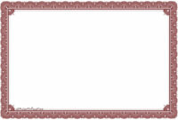 Certificate Border Template – Certificate Templates inside Certificate Border Design Templates