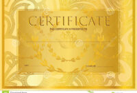 Certificate, Diploma Golden Design Template, Colorful regarding Certificate Scroll Template