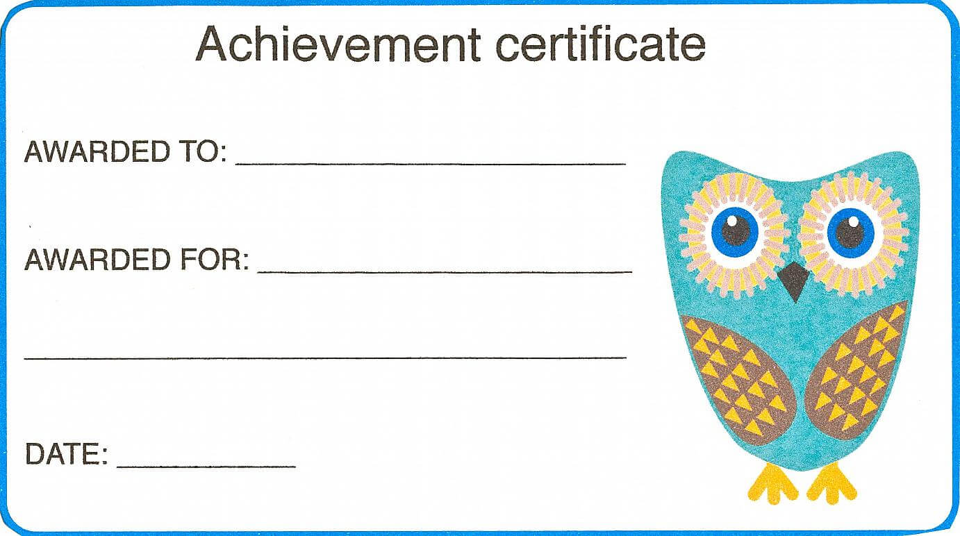 Certificate For Kid Template – Certificate Templates Pertaining To Certificate Of Achievement Template For Kids