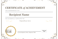Certificate Of Achievement – Download A Free Template for Certificate Of Accomplishment Template Free