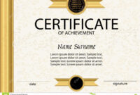 Certificate Of Achievement Or Diploma Template. Vector Stock with Certificate Of Attainment Template