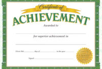 Certificate Of Achievement Template – Certificate Templates for Certificate Of Accomplishment Template Free
