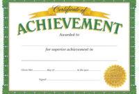 Certificate Of Achievement Template – Certificate Templates throughout Army Certificate Of Achievement Template