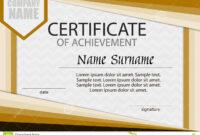 Certificate Of Achievement Template. Horizontal. Stock with Certificate Of Attainment Template