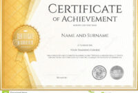 Certificate Of Achievement Template In Vector Stock Vector for Certificate Of Accomplishment Template Free