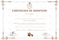 Certificate Of Adoption Template regarding Blank Adoption Certificate Template