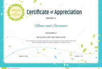 Certificate Of Appreciation Template In Nature Theme With in Certificates Of Appreciation Template