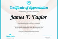 Certificate Of Appreciation within Certificates Of Appreciation Template