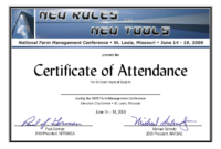 Certificate Of Attendance Conference Template ] – Of pertaining to Attendance Certificate Template Word
