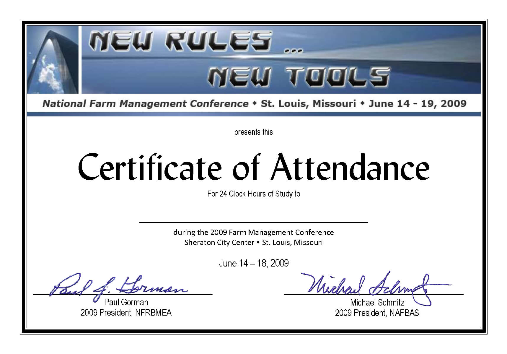 Certificate Of Attendance Conference Template ] - Of Pertaining To Attendance Certificate Template Word