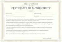 Certificate Of Authenticity Template Certificates Officecom with regard to Certificate Of Authenticity Photography Template