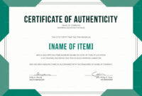 Certificate Of Authenticity Template Ndash Artwork Microsoft throughout Certificate Of Authenticity Template