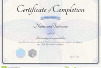 Certificate Of Completion Template In Vector With Florist intended for Choir Certificate Template