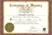 Certificate Of Ordination For Deaconess Example within Certificate Of Ordination Template