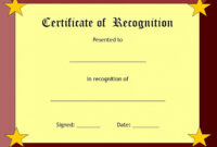 Certificate Of Recognition Template – Certificate Templates in Best Teacher Certificate Templates Free