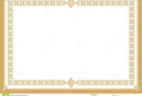 Certificate Stock Vector. Illustration Of Award, Blank with regard to Award Certificate Border Template
