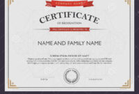 Certificate Template And Element. Stock Vector inside Beautiful Certificate Templates