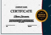 Certificate Template Background. Award Diploma Design Blank with regard to Academic Award Certificate Template