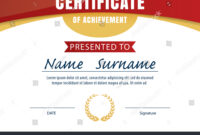 Certificate Template Diploma Layout A4 Size Stock Vector intended for Certificate Template Size