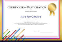 Certificate Template In Sport Theme With Border within Certificate Border Design Templates