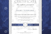 Certificate Template. Printable / Editable Design For in Academic Award Certificate Template