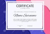 Certificate Template With Decoration Element. Design Diploma regarding Academic Award Certificate Template