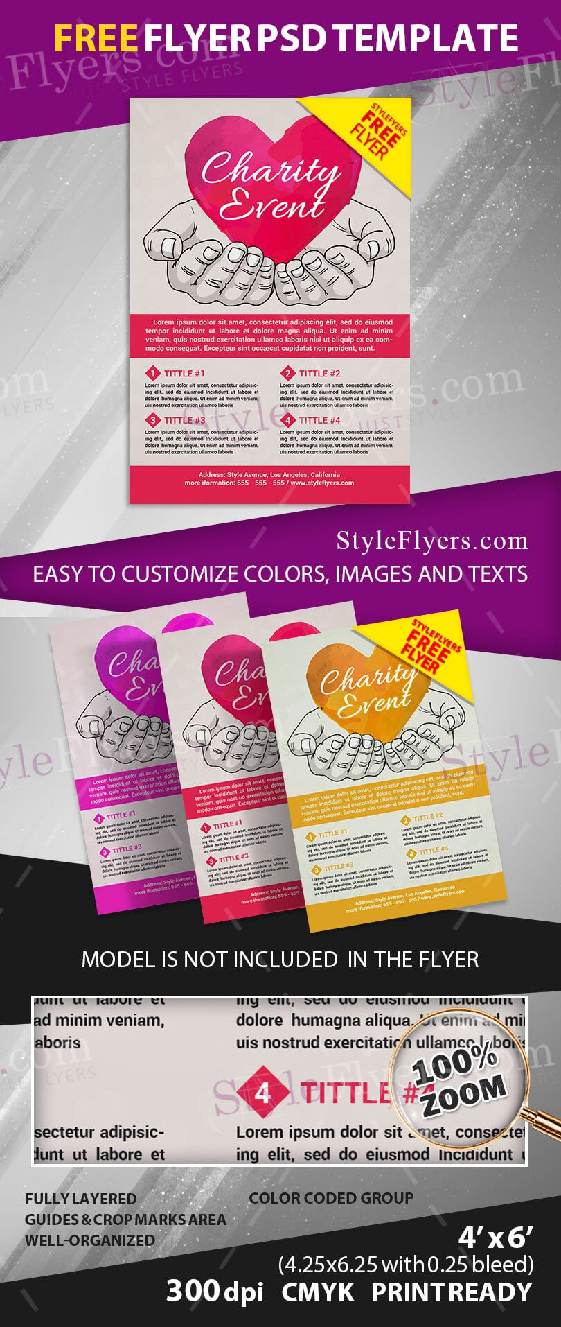 Charity Event Free Psd Flyer Template Free Download #11807 - Styleflyers With Regard To Charity Event Flyer Template