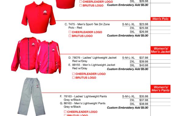 Cheerleader Apparel Order Form | Templates At inside Apparel Order Form Template