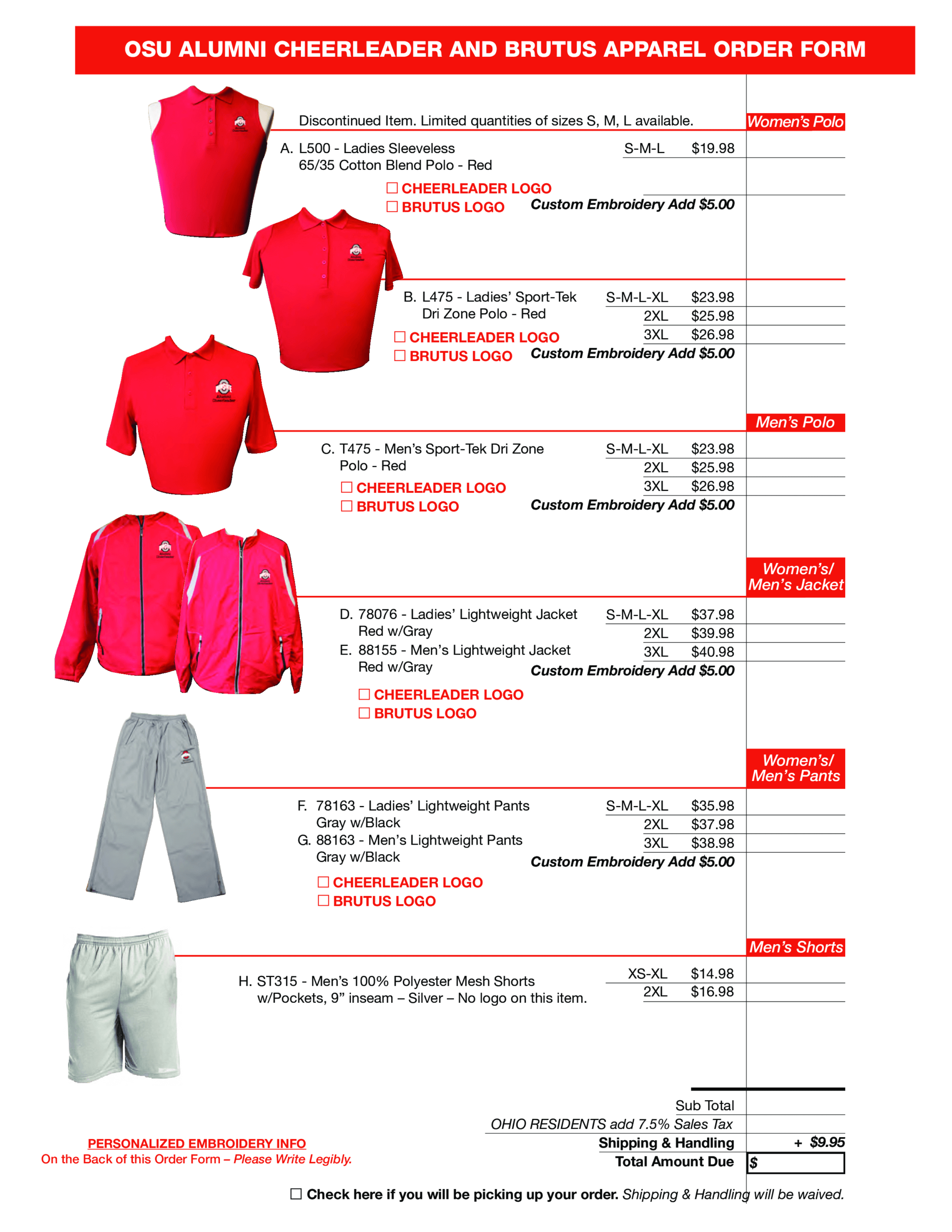 Cheerleader Apparel Order Form | Templates At Inside Apparel Order Form Template