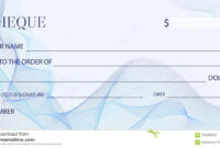 Cheque Check Template, Chequebook Template. Blank Bank throughout Blank Business Check Template