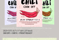 Chili Cook Off – Free Flyer Psd Template –Elegantflyer pertaining to Chili Cook Off Flyer Template