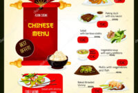 Chinese Restaurant Menu Templates | Vector Menu Template Of regarding Asian Restaurant Menu Template