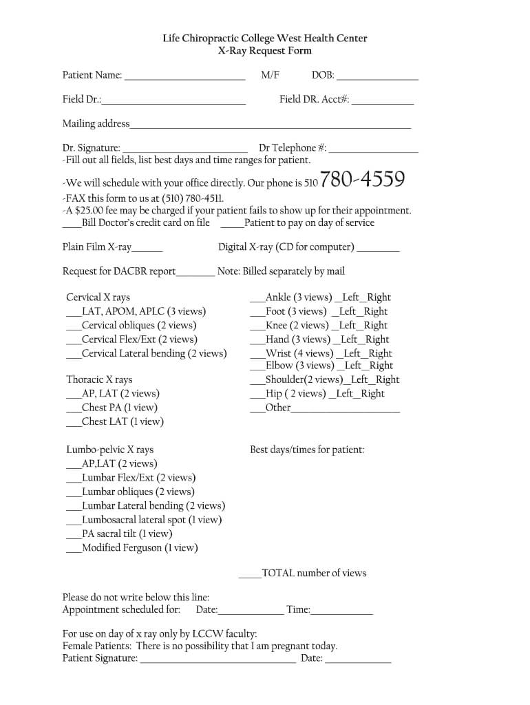 Chiropractic X Ray Report Template - Fill Online, Printable With Chiropractic X Ray Report Template