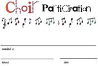Choir Certificate Template ] – Choir Award Certificates throughout Choir Certificate Template