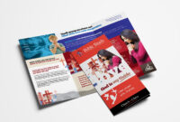 Christian Church Trifold Brochure Template In Psd, Ai inside Bible Study Flyer Template Free