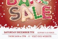 Christmas Bake Sale Flyer Template Hand Stock Vector regarding Bake Sale Flyer Template Free