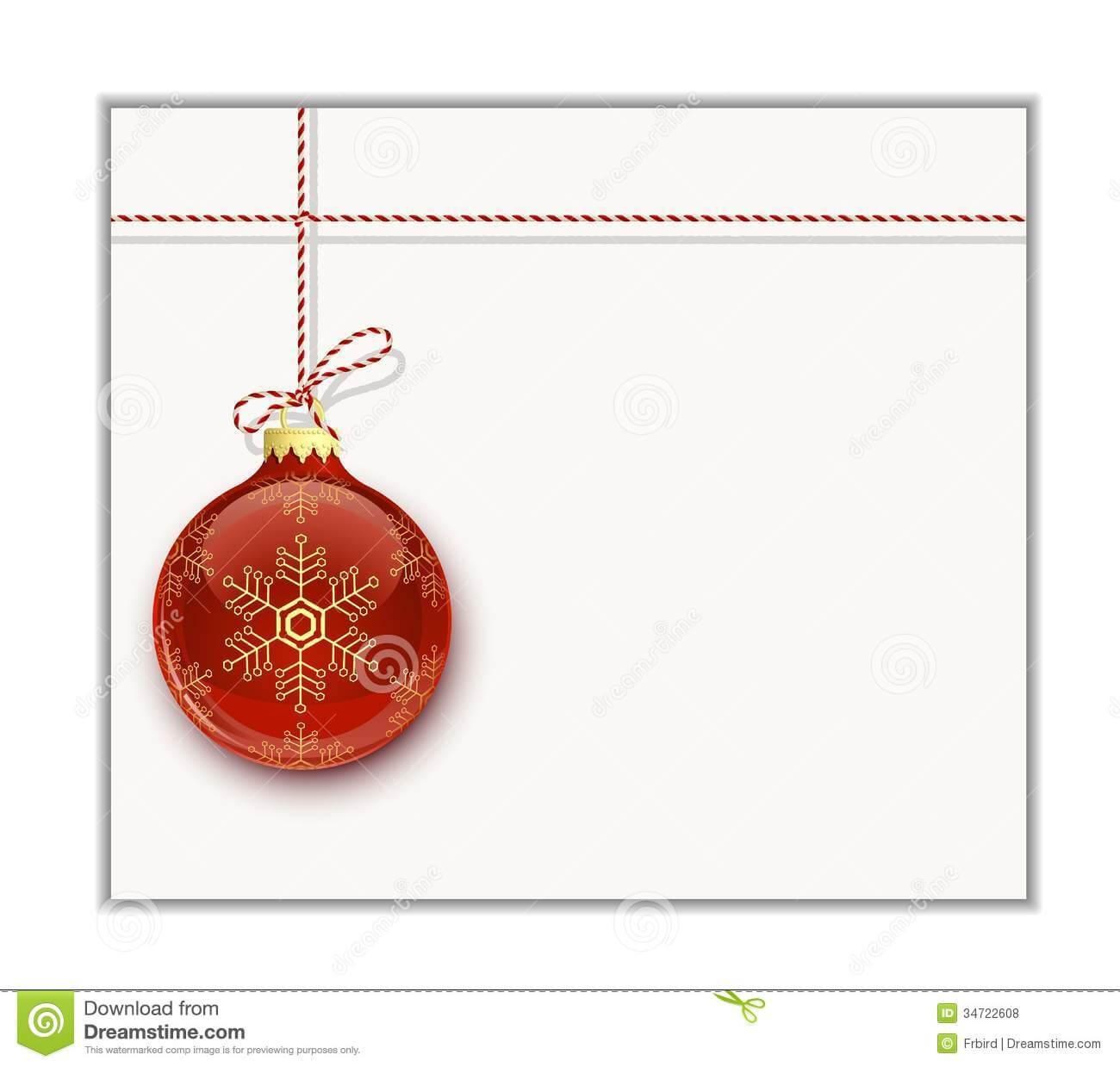Christmas Card Template Stock Vector. Illustration Of Clip For Blank Christmas Card Templates Free