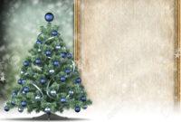Christmas Card Template – Xmas Tree And Blank Space For Text in Blank Christmas Card Templates Free