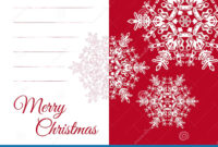 Christmas Greeting Card Template With Blank Text Field Stock throughout Blank Snowflake Template
