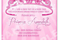 Cinderella Invitation Template – Horizonconsulting.co intended for 13 Birthday Invitation Templates