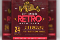 Classic Car Show – Free Psd Flyer Template » Free Psd Flyer regarding Car Show Flyer Template