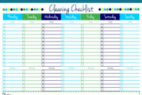 Cleaning List Template Free – Yerde.swamitattvarupananda intended for Blank Cleaning Schedule Template