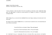 Client Follow Up Letter In Word | Templates At pertaining to Business Testimonial Template