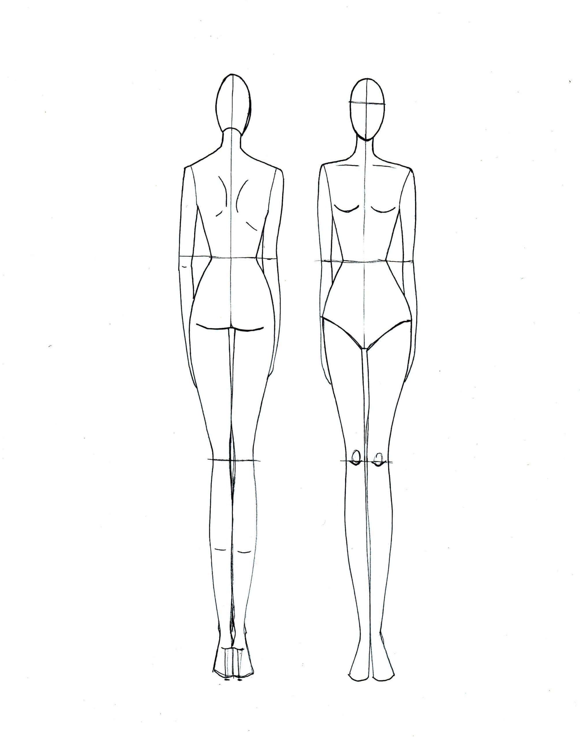 Clothing Model Sketch At Paintingvalley | Explore With Regard To Blank Model Sketch Template