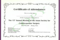 Cme Certificate Template ] – Pics Photos Phd Certificate pertaining to Certificate Of Attendance Conference Template